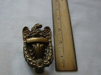 Vintage MCM Antique Cast Brass Bald Eagle Door Knocker Small