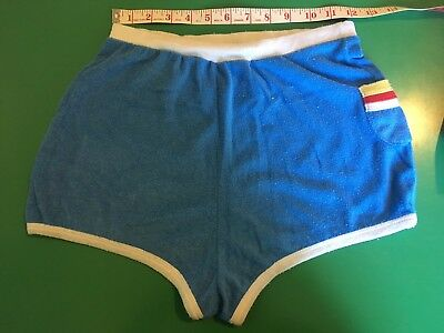 Vintage 1970s Terry Cloth Womens Shorts  Roller Girl