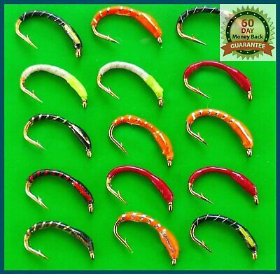 GREEN GOLDHEAD Epoxy Buzzers Fly Fishing Trout Flies various options
