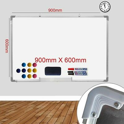 Magnetic Dry Wipe Whiteboard White Notice Board Office Meeting School Home