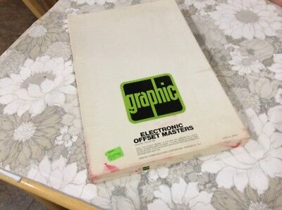 "GRAPHIC ELECTRONIC OFFSET MASTERS 10"" X 15 1/2""  100 SHEETS Long Run"
