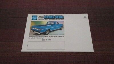 1970 Ford Explorer Special Uncirculated Mailer Sales Brochure.