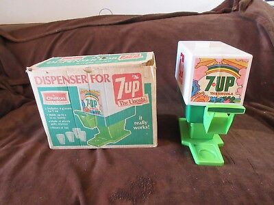 VINTAGE 7-UP Toy Fountain Dispenser For 7UP - The Uncola Chilton Toys With Box
