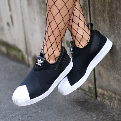 1a064b23a55 Adidas Originals Superstar Slip-On Women Wmns Shoes Black Core White S81337