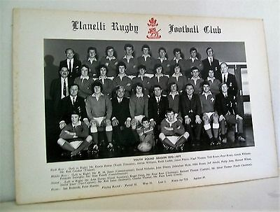 Photo Of Llanelli Rugby Youth Squad 1970-1971