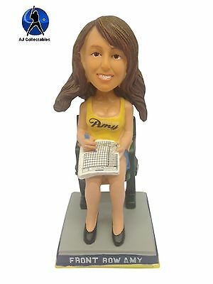 Milwaukee Brewers Super Fan FRONT ROW AMY Yellow Top Bobblehead BLOWOUT #'d/300