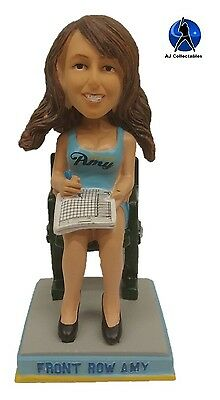Milwaukee Brewers Super Fan FRONT ROW AMY Blue Top Bobblehead BLOWOUT #'d/300