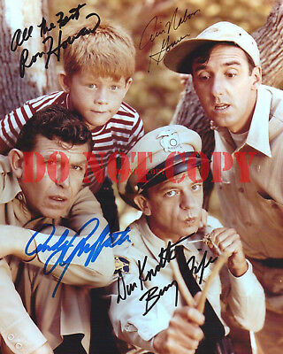 Andy Griffith Cast Signed 8X10 Autographed Photo Reprint