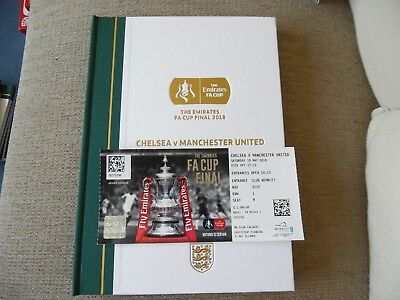 Fa Cup Programme 2018 Chelsea V Manchester United Limited Edition With Ticket