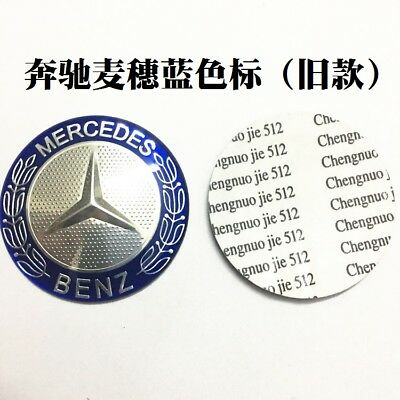 Steering Wheel Badge Emblem Sticker For Mercedes-Benz 52mm Blue Old Model 101