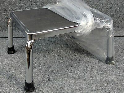 Physician Exam Room Step Foot Stool Chrome Stepping - TechMed 4351 Free Ship