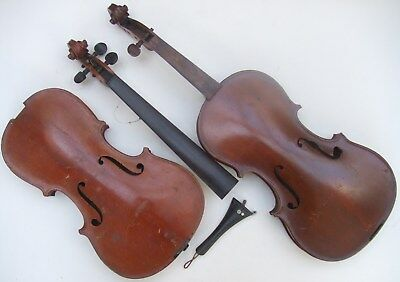 Two Broken Violins for Spares & Repair or Project