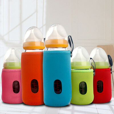 LX_ Baby Infant Feeding Bottle Warmer Thermal Insulate Cup Cushion Bag 10cm/14