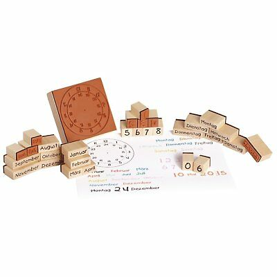 Eduplay 220124 Wood Stamp Calendar