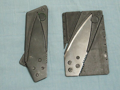 Lot Of 2 Cardsharp Credit Card Folding Razor Pocket Knife Outdoor Survival Tool