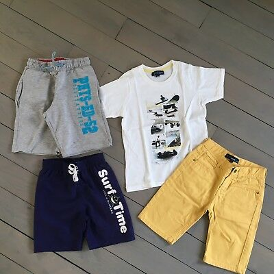 "****Lot ""Z""**** Ensemble *Bermudas * Short de bain * Tee-shirt * 6-8 ans TBE****"