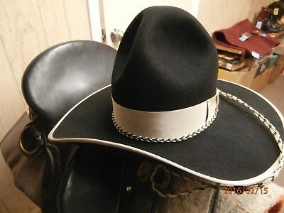 """sass Cowboy""  Another Great Character Hat 3X Custom Made ""montana Peak"""
