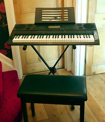 Casio CTK-600 electric organ with stand, stool, headphones