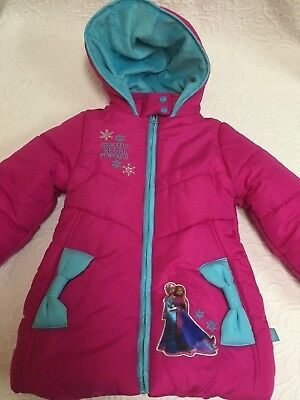 3ca3447a2 Disney Girls FROZEN Pink Size 3T Polyester Coat with Polyester (Fleece)  Lining