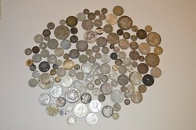 World Silver Coin Lot, Various Dates & Countries! Silver Lot #2