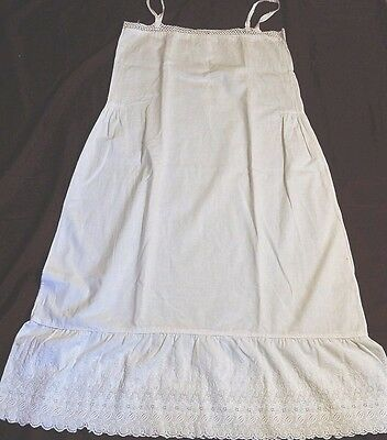 """LOT of 4 Vintage 1920s Nighties French SUMMER White Nightdresses 36"""" to 42"""" Bust"""