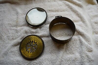 antique french drum clock brass case