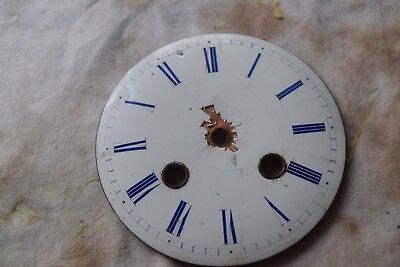 antique french clock enamel dial blue numbers