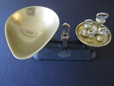 Vintage Weighing Scales ( The Viking ) With Brass Weights