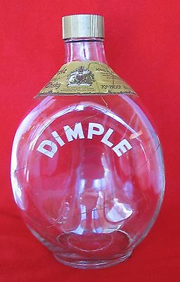 RARE Vintage Haig Pinch Dimple w/ Gold Netting Overlay Scotch Decanter Scotland
