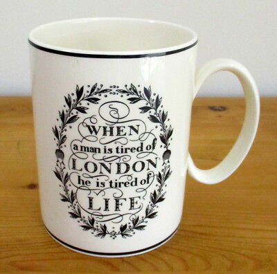 Vintage Wedgwood 'The London Mug' - When a Man is Tired of London....