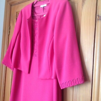 Ladies Size 16 Dress And Jacket Mother Of The Bride / Groom Wedding Joanna Hope