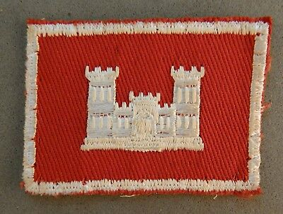 WWII World War 2 U.S. Army Corps of Engineers Used Patch No Reserve