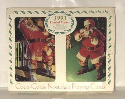 1993 NOSTALGIA COCA COLA PLAYING CARDS TWO DECKS. NEW Unopened!!!