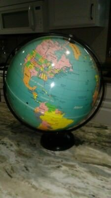VINTAGE Nystrom 16-INCH WORLD GLOBE DUEL AXIS  EXCELLENT CONDITION