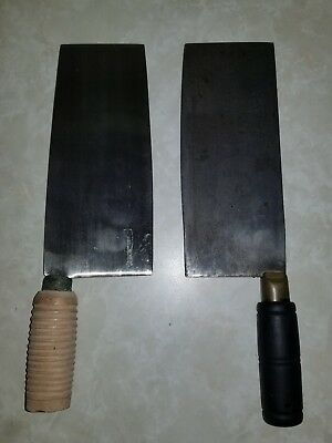 Lot Of 2 Meat Cleavers