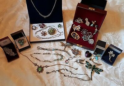 Lovely quality Collection of Antique/Vintage modern/art deco statement jewellery
