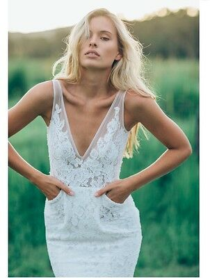 Made With Love Wedding Dress Frankie Gown Low Back Beach Rustic Boho Lace Wed