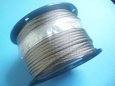 304 Stainless Steel Wire Rope Cable, 5/16, 7x19, 125 ft Reel