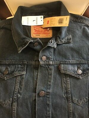 Levi'S Trucker Jean Jacket ( Dark Wash Navy ) Size - L.