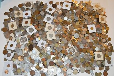 Huge Unsearched Lot of World Foreign Coins OVER 23 POUNDS!!