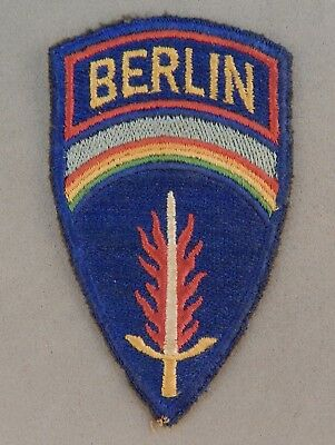 WWII World War 2 U.S. Army Berlin Command Used Patch No Reserve