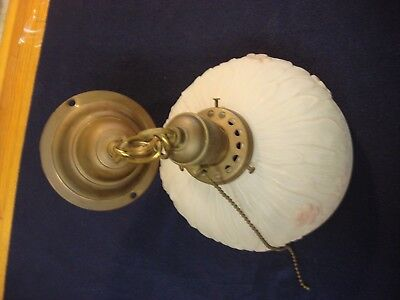 Antique Brass Ceiling Light Fixture Decorative Milk Glass hanging light