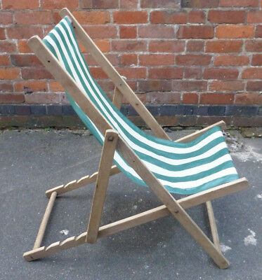 Antique Vintage Wooden Deck Chair 4 Position Beach Garden & ANTIQUE VINTAGE WOODEN Deck Chair 4 Position Beach Garden ...