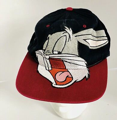 Vtg Acme BUGS BUNNY Prime Time Headwear LOONEY TUNES Snapback Baseball Hat 1994