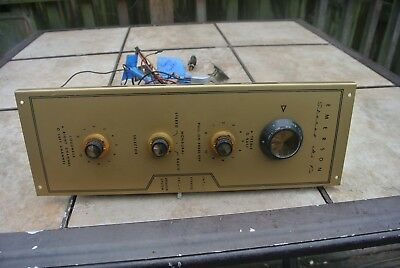 Vintage Emerson Stereo Hi Fi Tube Amplifier Untested