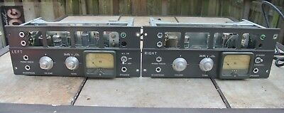 Roberts Tube Reel to Reel Amplifiers Right and Left Untested