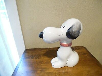 Snoopy Vintage Figural Ceramic Bank Made In Italy 1968 Quadrifoglio Peanuts Gang