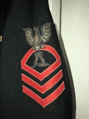 WWII US Navy CPO Chief Petty Officer Tunic - Commissary Steward - Bullion Patch
