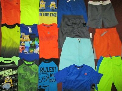 Boys SCHOOL SUMMER Size 8  Lot CLOTHES & OUTFITS Shorts & Tops NEW!!