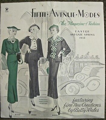 1935 Fifth Avenue Modes Easter Late Spring Fashions by Betty Wales Mail Envelope